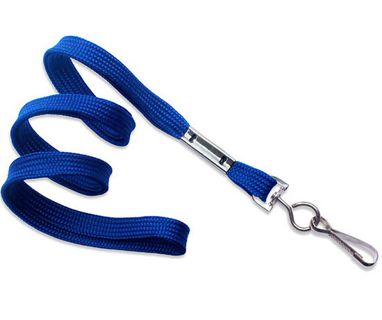 Bild 1 - Lanyard flach 10mm Swivel-Hook Royalblau