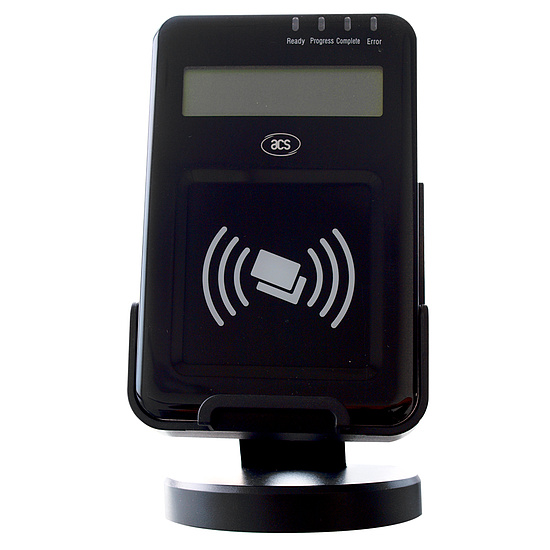 Bild 1 - ACS ACR1222L NFC-Reader mit LCD-Display