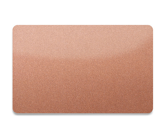 Bild 1 - PVC Plastikkarte Bronze-Metallic 0,76mm