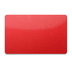 PVC Plastikkarte Rot-Metallic 0,76mm