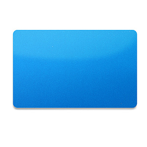 PVC Plastikkarte Blau-Metallic 0,76mm
