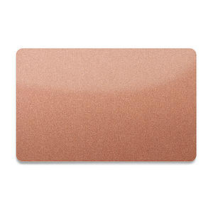 PVC Plastikkarte Bronze-Metallic 0,76mm