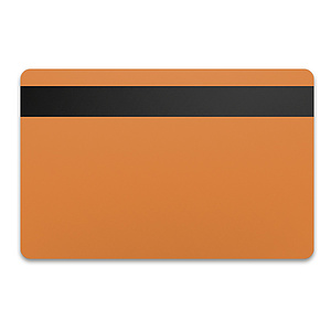 Magnetstreifenkarte Orange HiCo 0,76mm