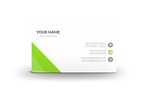 Plastikkarten Als Visitenkarte Identible